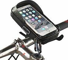 Wheelup Fahrrad Handyhalter Wasserdichte Taschen Fahrradtaschen Radsporttasche Vordertaschen Navigationsbügel,Black