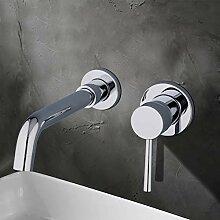 WHFDRHSLT Messingbassinhahn Einhand Badezimmer