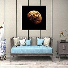 WHFLLDH Erde Bild Leinwand Gemälde Abstrakte