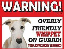Whippet (braun) Guard Dog Metall Schild 256
