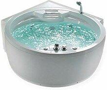 Whirlpool Badewanne Florenz mit 14 Massage Düsen
