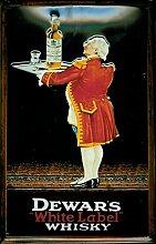 Whiskey Blechschild - Dewar's white label - 20x30cm Nostalgieschild Retro Schild Metal tin sign