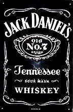 Whiskey Blechschild - Jack Daniels Black Label - 20x30cm Nostalgieschild Retro Schild Metal tin sign