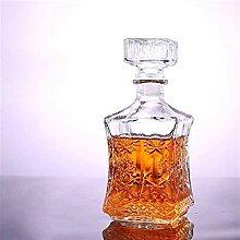 Whiskey Decanter Whiskey-Flasche Kristallglas Wein