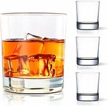 Whiskey-Gläser, 325 ml, altmodische Gläser,