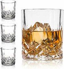 Whiskey-Gläser aus Kristall, hochwertig, 325 ml,