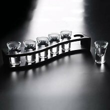 Whiskey Gläser Glas Set Mit Rack Mini Bullet Cup
