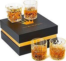 Whiskey-Glas, Scotch-Gläser, Kristall-Gläser,
