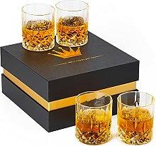 Whiskeygläser, Kristallgläser-Set, Rocks,