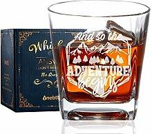 Whiskeyglas, altmodisches Glas, Rocksglas,