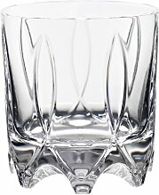 "Whiskeyglas, Whiskeybecher, Whiskystamper """"GERMAN ROULETTE - STUTTGART"""" 225ml, transparent, Rotation, Bleikristall Glas (German Crystal powered by CRISTALICA)"