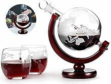 Whisky-Dekanter-Set aus Glas, 800 ml, Brandy