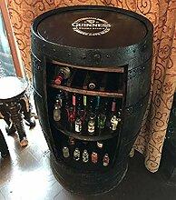 Whisky-Fass mit Guinness-Logo, rustikale Hausbar