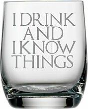 Whisky-Glas, inspiriert durch Game of Thrones, mit