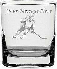 Whisky Glas mit Gravur personalisierbar Ice Hockey
