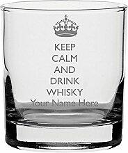 Whisky Glas mit Gravur personalisierbar Keep Calm