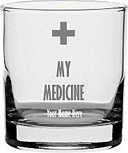 Whisky Glas mit Gravur personalisierbar My Medizin