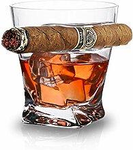 Whiskybecher Geschenk - altmodisches Whiskyglas in