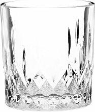 Whiskyglas aus geschliffenem Glas