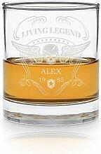 Whiskyglas mit Gravur (Totenkopf-Design) |
