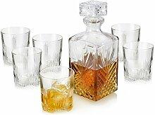 Whiskyglas Set mit Karaffe und Deckel von Bormioli