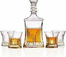 Whiskykaraffe und Glas-Set - inkl. bleifreiem