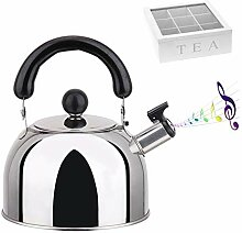Whistling Tea Kettle Stainless Steel Teapot, 4L