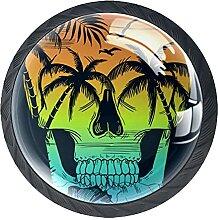 White Beach Skull IllustrationKabinett Knöpfe