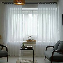 White Blackout Sheer Curtains, 1 Panel Hook Typ