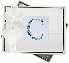 WHITE COTTON CARDS Alphabetics Initiale C