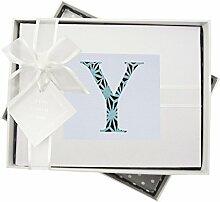 WHITE COTTON CARDS Alphabetics Initiale Y