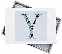 WHITE COTTON CARDS Alphabetics Initiale Y Mini