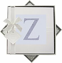 WHITE COTTON CARDS Alphabetics Initiale Z