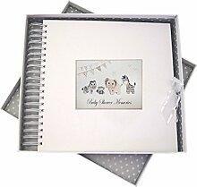 WHITE COTTON CARDS Baby Dusche Card und Memory