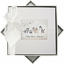 WHITE COTTON CARDS Baby Dusche Memories Fotoalbum,