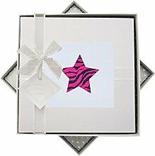 WHITE COTTON CARDS Fotoalbum Alphabetics Pink