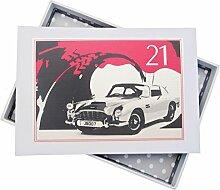 WHITE COTTON CARDS Fotoalbum für 21. Geburtstag,