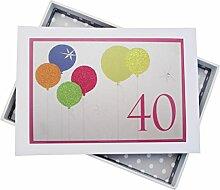 WHITE COTTON CARDS Fotoalbum für 40. Geburtstag