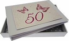 WHITE COTTON CARDS Fotoalbum für 50. Geburtstag,