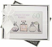 WHITE COTTON CARDS Fotoalbum für 60. Geburtstag,