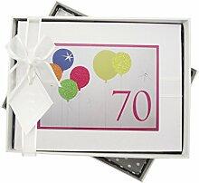 WHITE COTTON CARDS Fotoalbum für 70. Geburtstag