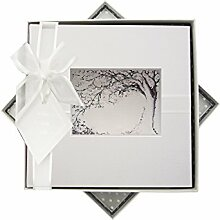 WHITE COTTON CARDS Fotoalbum offen Tree Design,