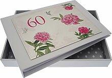 WHITE COTTON CARDS Fotoalbum zum 60. Geburtstag,