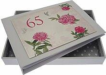 WHITE COTTON CARDS Fotoalbum zum 65. Geburtstag,