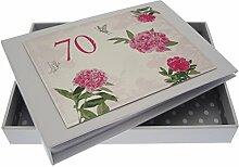 WHITE COTTON CARDS Fotoalbum zum 70. Geburtstag,