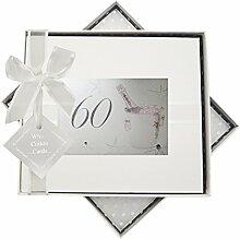 White Cotton Cards Gästebuch zum 60. Geburtstag, Motiv: Champagner und Eiskübel