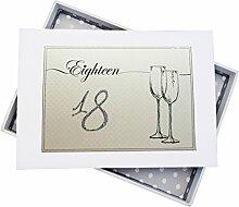 WHITE COTTON CARDS Geburtstag 18Flöten