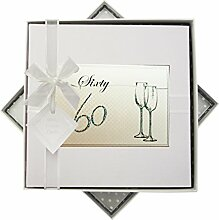 WHITE COTTON CARDS Geburtstag 60Flöten