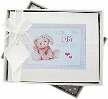 WHITE COTTON CARDS New Baby Fotoalbum, klein, pink