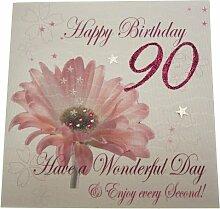 WHITE COTTON CARDS, Partydekoration für 90.